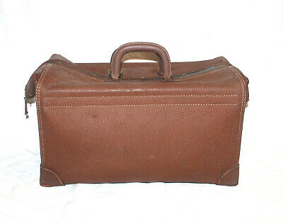 Vtg Brown K. KAUFMANN CO Brown DOCTOR Case Suitcase BRIEFCASE Luggage Leather?