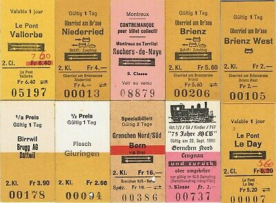 Railway tickets Switzerland SBB CFF FFS and others unused mixture as seen 5
