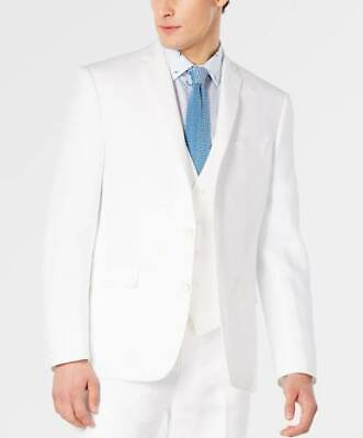 Bar Iii Men's Slim-Fit White Suit Jacket