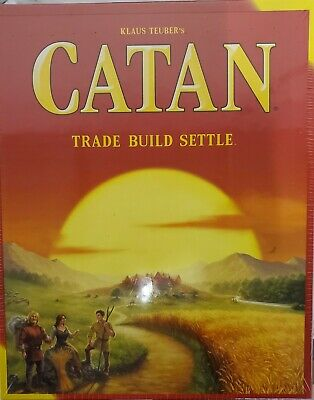 Catan Standard Board Game Trade Build Settle New Factory Sealed