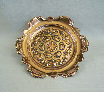 Extremely Stylish Antique English Ornate Arts & Crafts Art Nouveau Copper Tray.