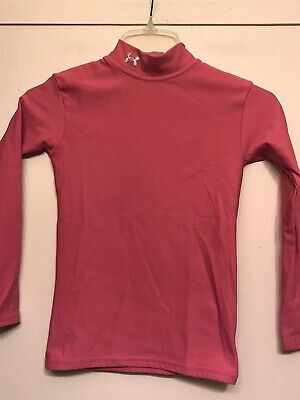 Under Armour Girls Pink Compression YLG Long Sleeve Top