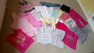Girls Summer Clothes Bundle Aged 6-7 Years Shorts T-shirts Dresses 22 Items