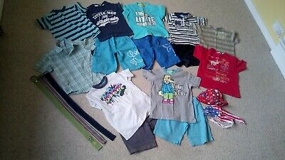 Boys Summer Clothes Bundle Aged 3-4 Years Next, La Redoute Shorts, T-shirts,...