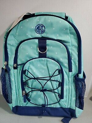 Pottery Barn PB Teen Gear-Up Backpack TEAL POKA DOTS NEW  MONO MRL