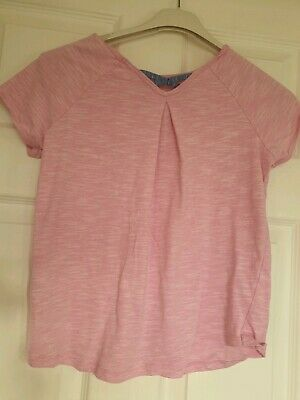 Excellent Condition Matalan Girls Pink T-shirt Top Age 12-13 Years