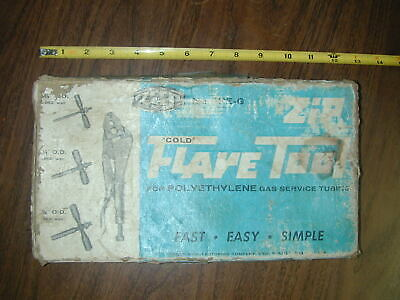 """Reed Zip-Flare Tool FPE-G Cold Flaring Tubing 3/8 1/2 5/8""""  Polyethylen Gas Tube"""