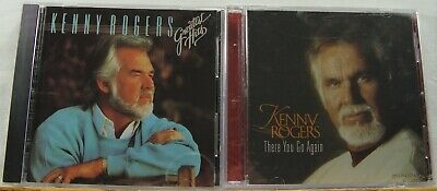Lot Of 2 KENNY ROGERS CDS - Greatest Hits, There You Go Again - FREE SHIPPING!