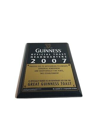 Guinness Official Toast Headquarters 2007 Honorary Wall Plaque, EXTREMELY RARE!