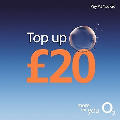 O2 - £20 - Pay as You Go - Mobile phone - Top Up Vouche