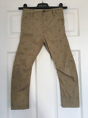 Boys Next Skinny Carrot Leg Chino Trouser Skull Design Age 5 Great Condition!