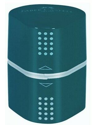 Faber-Castell GRIP 2001 Trio Sharpening Box in 2 colours Petrol Blue and Green