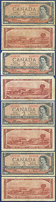 Canada 1954 Devil's Face 4 Deux Two Notes - 4 Of Them