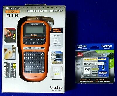 Brother P-Touch Edge Label Maker PT-E105 with Extra TZe-FX231 Labeling Tape
