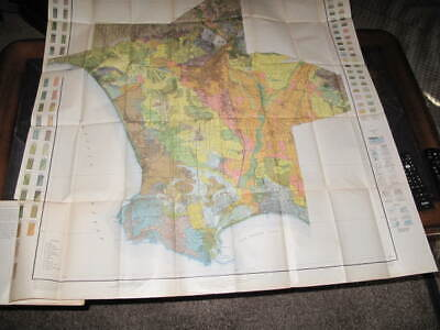 1919 Soil Survey map of Los Angeles w/soil survey book. Original Color Map