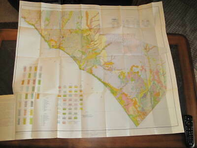 1929 Original Color Map & soil survey Capistrano Area, California. Beautiful!