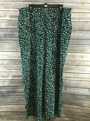"JM Collection Women's ""Textured Fans"" Elastic Waist Wide Leg Pants XL NEW"