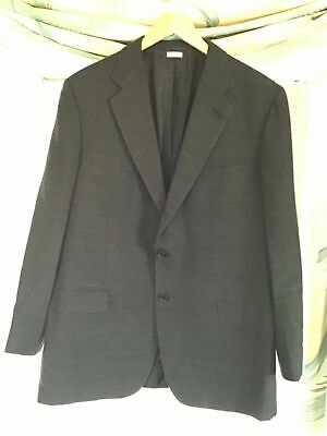 BRIONI Men's Cashmere Silk Blazer Sport Coat Dark Grey 44R 46R