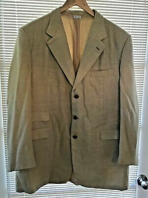 BRIONI Men's Linen Silk Mohair Wool Blazer Sport Coat Gold Tan Beige 46L