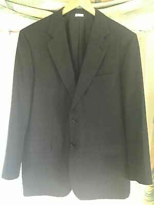 BRIONI Men's Cashmere Silk Blazer Sport Coat Textured Dark Gray 46R Slim Fit