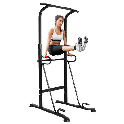 OneTwoFit Power Tower Dip Station Pull Up Indoor Bodybuilding Exercise Gym OT130