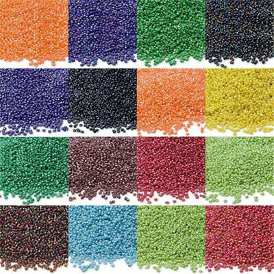 Lot of 2500pcs DIY 11/0 Rocaille 1.8mm Small Round Glass Seed Beads Wholesale