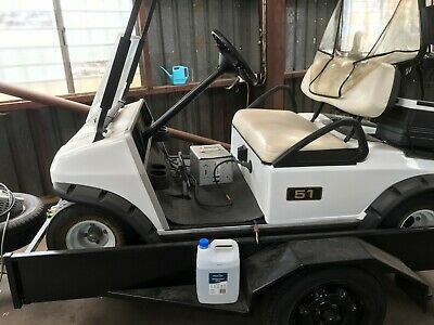 Club Car 48V Electric Golf Cart Buggy with Aspinall Tilt Trailer