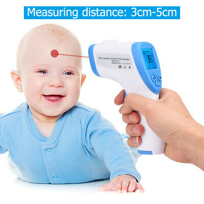 IR Forehead Digital Thermometer Medical Non-Contact Infrared for Adults/Kid/Baby