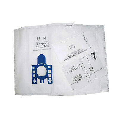 5 x Vacuum Hoover Bags & Filters for MIELE GN C1 C2 C3 Powerline Silence Ecoline