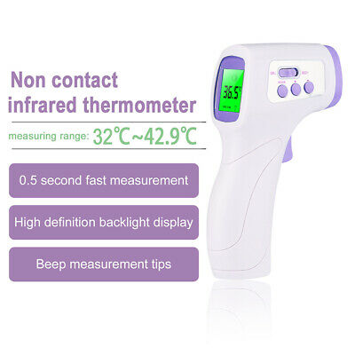 No-contact Touch IR Infrared Digital LCD Fever Forehead Thermometer Baby Adult