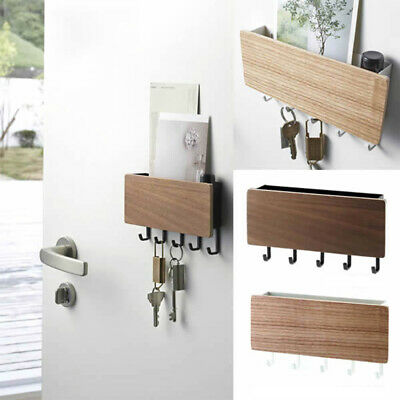 Wooden Wall Mounted Hanging Hanger Hooks  Storage Rack Organizer Key Holder