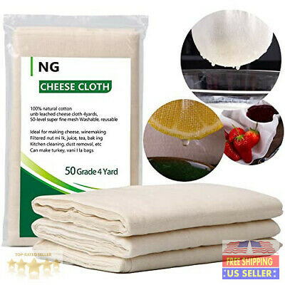 NUOBUNG - Cheese Cloth Unbleached  Fabric Cotton, Reusable Ultra Fine Organic...