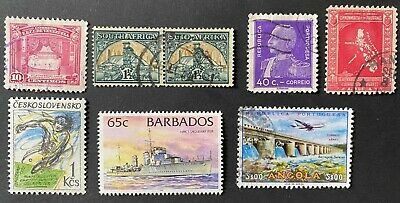 worldwide collection lot of mixed stamps, S. Africa Venezuela Philippines
