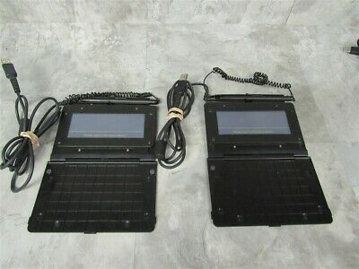 Lot of 2 Topaz SigLite T-S461-HSB-R USB Slim Electronic Signature Capture Pads!
