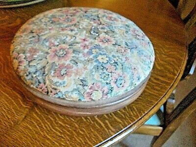 Vintage Tapestry Top Wooden Surround Footstool, Lovely Quality