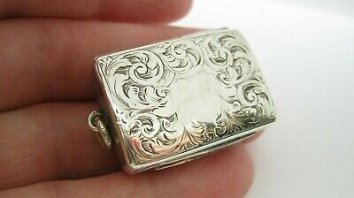 Victorian Sterling Silver Vinaigrette by Cronin and Wheeler 1874