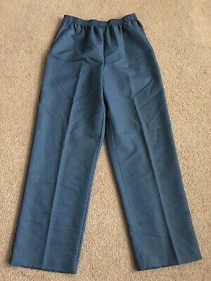 Alfred Dunner Womens 10P Blue Straight Leg Casual/dress Pants Mint Condition