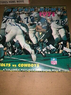Mint Sealed Super Bowl 1971 Cowboys Vs Colts 8mm  Columbia Pictures Home Movie