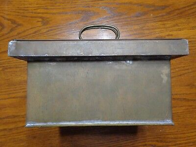 Antique Vintage Chinese Metal Tobacco Sewing Humidor 2 Piece Box Hand Made