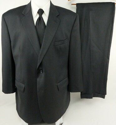 "JOSEPH & FEISS 48R Smokey Charcoal Wool 2 Button Lined Vented Suit 41"" Pants"
