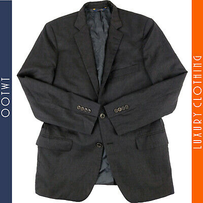 BROOKS BROTHERS 40R Fitzgerald Estrato Togna Gray Wool 2 Button Jacket Blazer