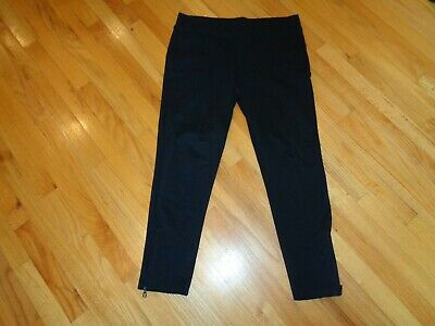 EUC Lauren Ralph Lauren Active large black straight slim leg stretch pants