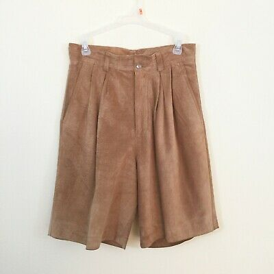 Silverado Women`s Size 8 Vintage Brown Soft Leather Short Pants STAINED