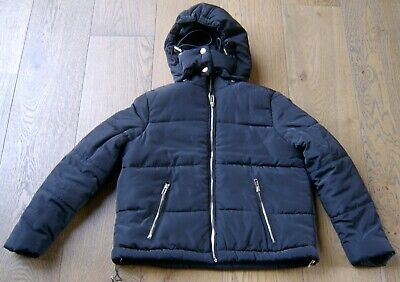 Seed Teen Girls Black Hooded Puffer Jacket Sz Xs To Fit 8 - 10 Yr Old