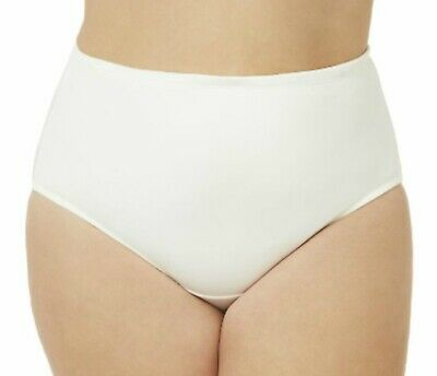Catherines Plus Size 15 White Microfiber Sexy Hi-Cut Brief Panty LOT OF 3 PAIR