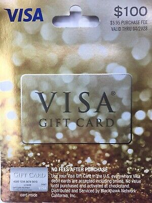 MAILED SAME DAY, $100 Gift Card, Best Present, ACTIVATED