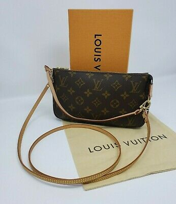 LNWOT Authentic Louis Vuitton MONOGRAM Accessoires Pochette w/ Crossbody Strap