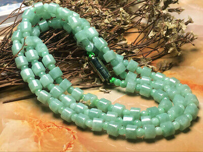 Certified Chinese-exquisite-hand-carved-jade-necklace-28inches (Burma Jade)
