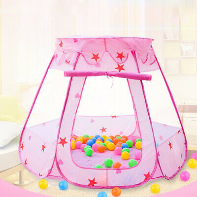Pink/Bue Starry Pop Up Fun Play Tent Playhouse For Girls Kids Boys Baby Children