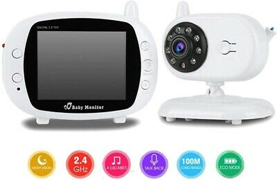 3.5 inch HD LCD Screen 2.4G Wireless Transmission Two-Way Voice Baby Monitor